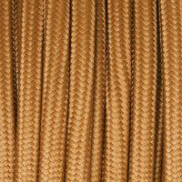 Bronze - Flat Cloth Covered Wire (250 Ft / Roll)