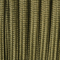 Olive Green - Flat Cloth Covered Wire (250 Ft / Roll)