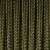 Dark Green - Flat Cloth Covered Wire (250 Ft / Roll)