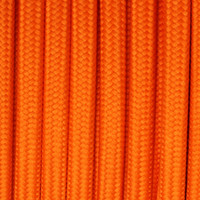 Orange - Flat Cloth Covered Wire (250 Ft / Roll)