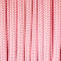 Baby Pink - Flat Cloth Covered Wire (250 Ft / Roll)