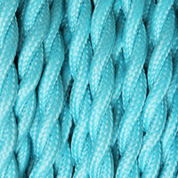 Deep Sky Blue - Twisted Cloth Covered Wire (250 Ft / Roll)