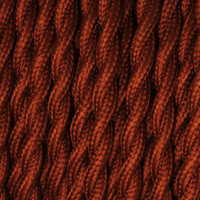 Burnt - Twisted Cloth Covered Wire (250 Ft / Roll)