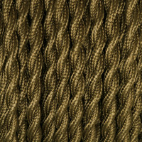 Dark Olive Green - Twisted Cloth Covered Wire (250 Ft / Roll)