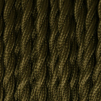 Dark Green - Twisted Cloth Covered Wire (250 Ft / Roll)
