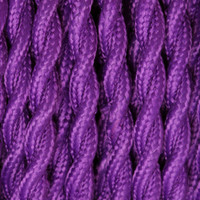 Violet - Twisted Cloth Covered Wire (250 Ft / Roll)