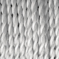 True White - Twisted Cloth Covered Wire (250 Ft / Roll)