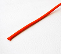 Orange Red - Flat Cloth Covered Wire (Per Foot)