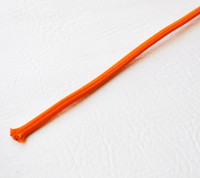 Orange - Flat Cloth Covered Wire (Per Foot)