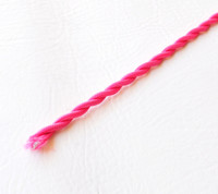 Deep Pink - Twisted Cloth Covered Wire (Per Foot)