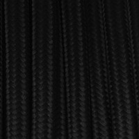 True Black - Round Cloth Covered Wire (100 Ft / Roll)