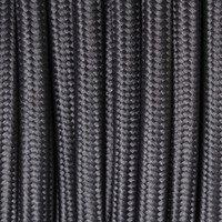 True Gray - Round Cloth Covered Wire (100 Ft / Roll)