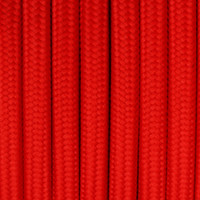 True Red - Round Cloth Covered Wire (100 Ft / Roll)