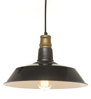 Vintage Barn Pendant - Dark Grey