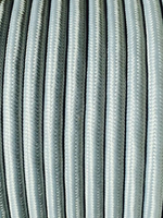 Silver - Round Cloth Covered Wire (100 Ft / Roll)