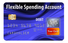 FSA Flexible Spending Account debit cards accepted in checkout cart.