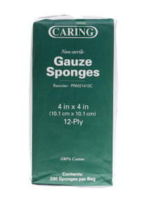 Gauze sponges 4x4 12-ply 200 count