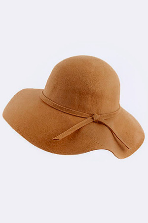 WOOL FLOPPY HAT WITH SIMPLE KNOT