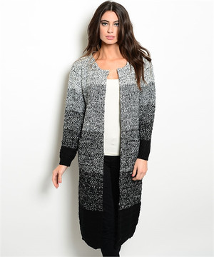 Ivory & Black Cardigan Sweater