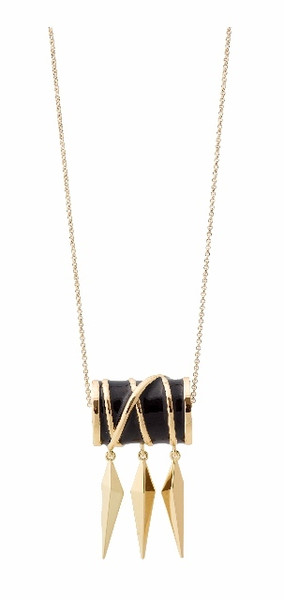 Belle Noel Gold Thread Dagger Necklae by Kim Kardashian