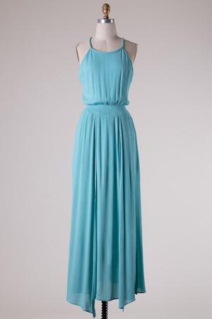 Goddess Maxi Dress Blue