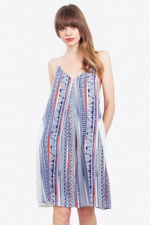 AZTEC IN CHECK DRESS