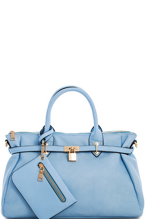Blue Princess Satchel Handbag