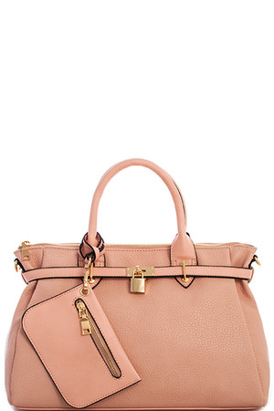 Lt. Pink Princess Satchel Handbag