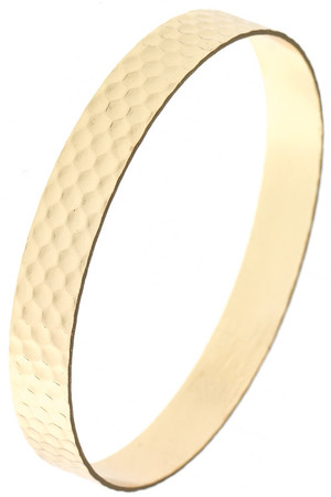 HONEYCOMB PATTERN POLISHED BANGLE BRACELET