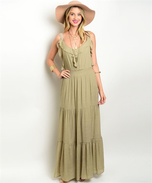 OLIVE DRESS MAXI DRESS