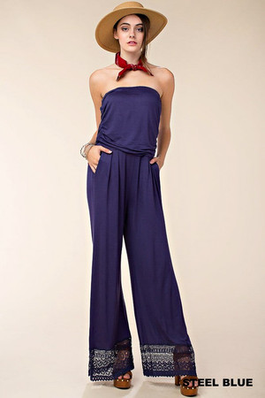 JERSEY STRAPLESS JUMPSUIT