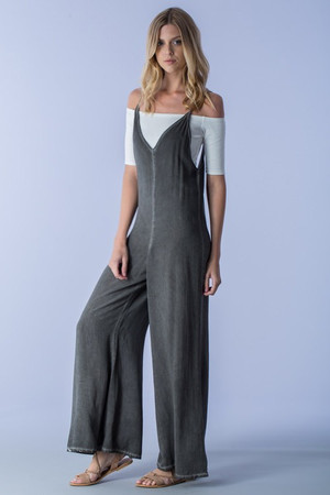 V BACK JUMPSUIT