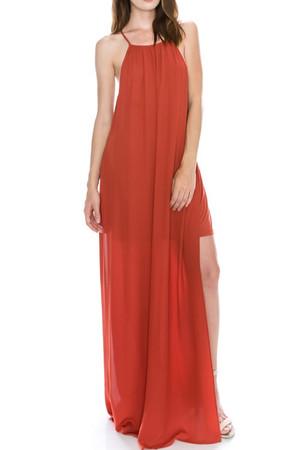 SLIDE SLIT MAXI DRESS