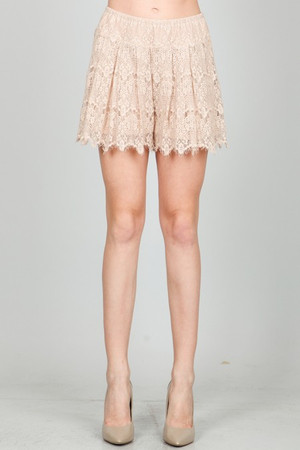 Lace Dusty Salmon Shorts Ark & Co