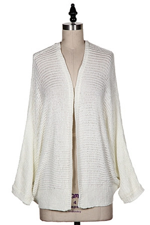 Over Size Cardigan Sweater Cream