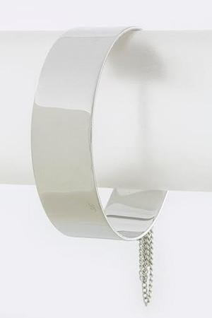 Silver Metal Chain Linked Cuff