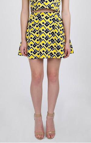 Deco Print Skirt
