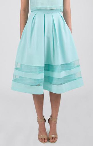 Organza Check Shell Skirt