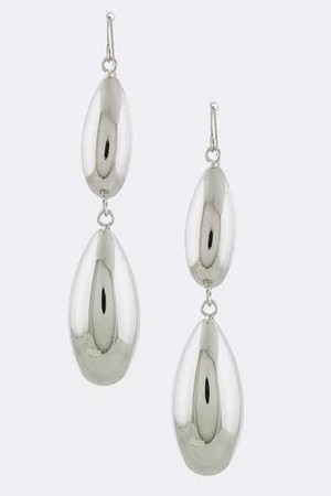 DROPLET DOME EARRINGS SILVER