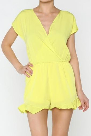 Chartreuse Romper