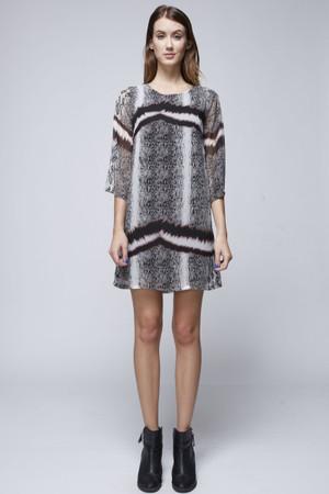 Print Quarter Sleeve Dress