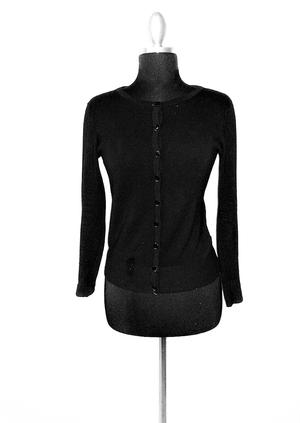 Button Down Sweater Black
