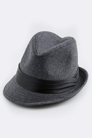 SLANTED BRIM HAT GRAY