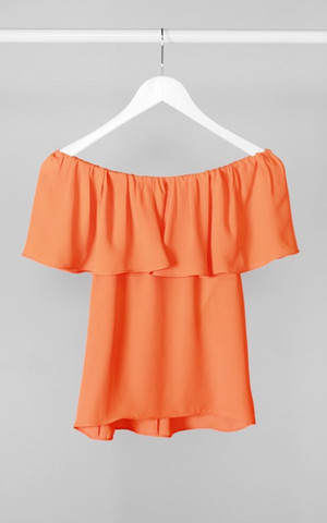 Off Shoulder Orange Top