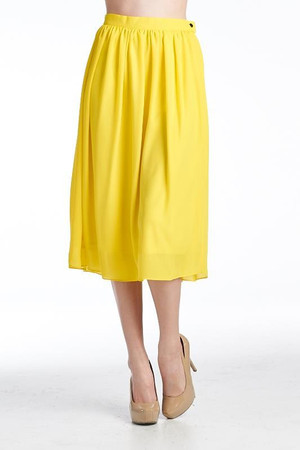Full Circle Yellow Skirt