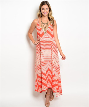 Orange Cream Maxi Dress
