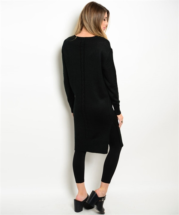 Fitted Sweater Black