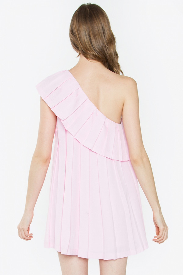 ADELISA ONE SHOULDER DRESS