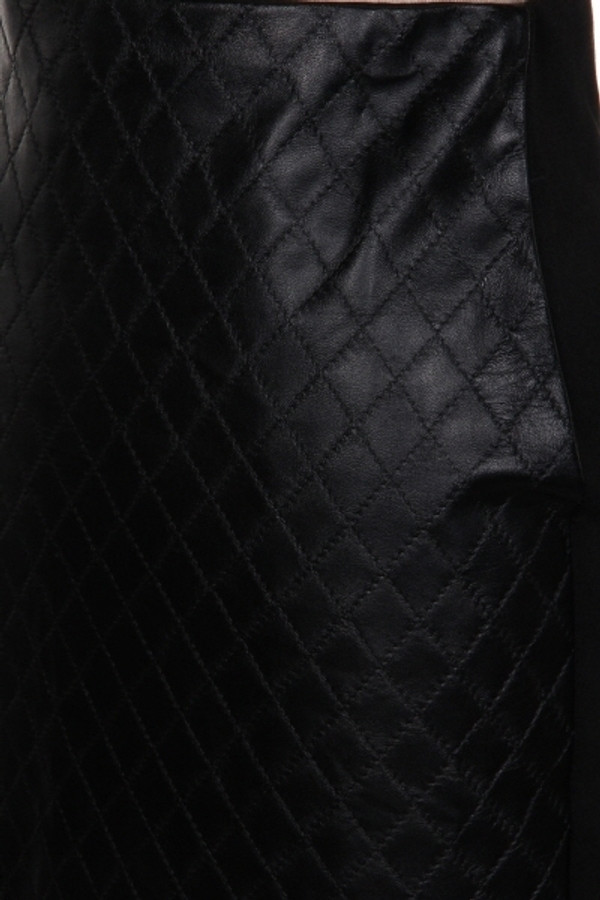 Black Faux Leather Quilted Pencil Skirt Out Of My Kloset