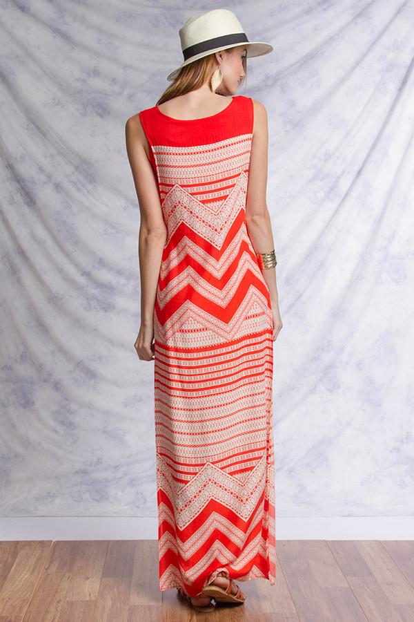 Sleeveless Print Maxi Dress